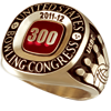 300 Game Ring Grand Small 14K Gold Upgrade (Adult and Youth Purchaseable Upgrade)