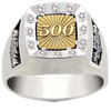 300 Sport Bowling Game - Adult Sterling Silver Ring.