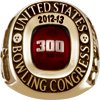 300 Game Grand 10K Gold Ring.  Purchasable Upgrade for Adults.  Available in Large (sizes 7-18) or Small (sizes 3-15).